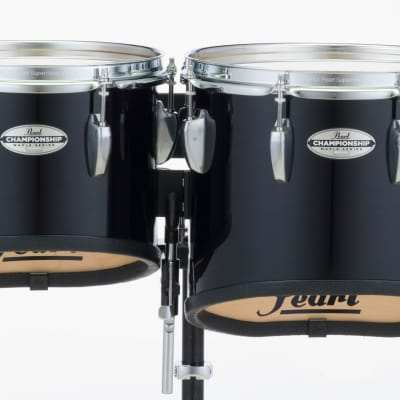 Pearl 10+12+13+14 Championship Maple Marching Tom Set- Midnight Black