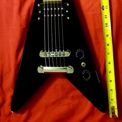 KONA Flying V Travel Guitar BLACK for sale