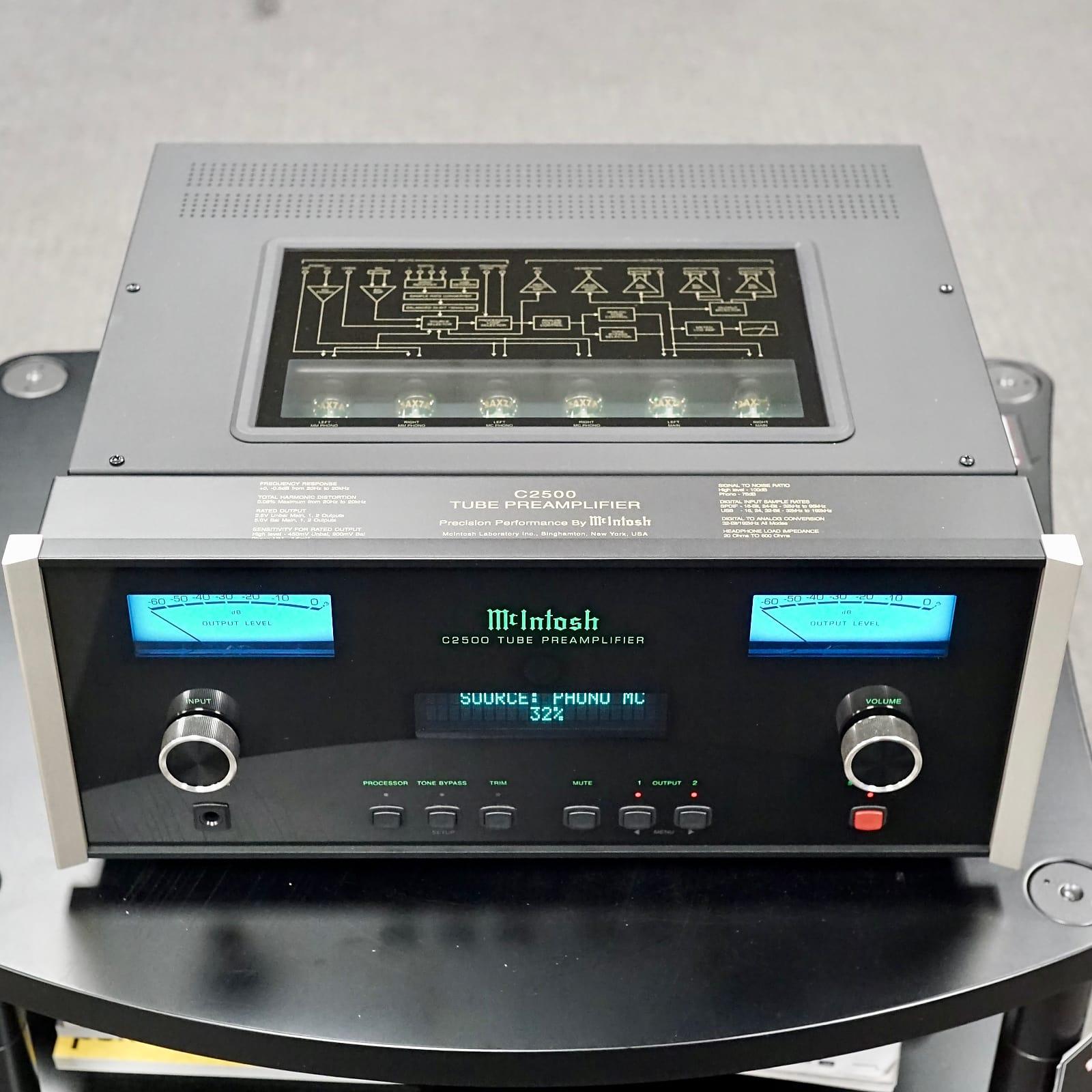 McIntosh C-2500 Vacuum Tube Preamplifier w/ Org Box, Remote, Etc - Near Mint