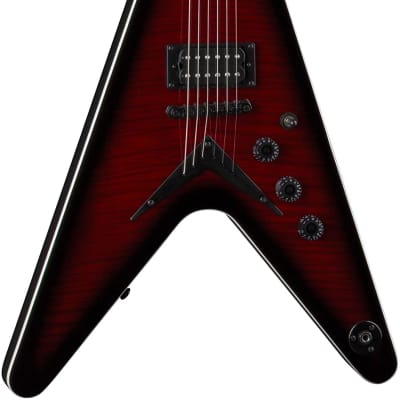 Dean VX Flame Top Electric Guitar, Trans Red for sale