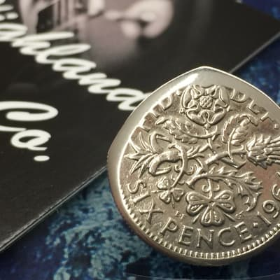 The Highland Plectrum Co. One Brian May Inspired.....Queen Elizabeth Sixpence Coin Plectrum.