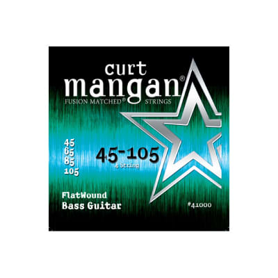 NEW Curt Mangan Flatwound Bass Strings - .045-.0105