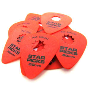 Everly Music 30021 Delrin Star Pick .50mm Guitar Picks (12-Pack)