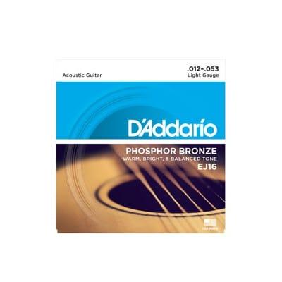 D´Addario EJ 16 Phosphor Bronze Acoustic Strings 12-53