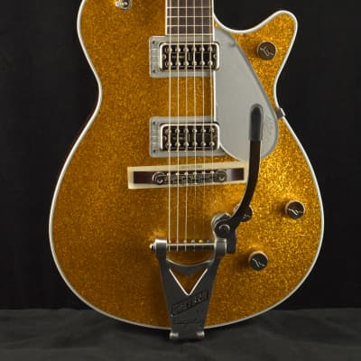 Gretsch G6129T-89 Vintage Select '89 Sparkle Jet with Bigsby Gold Sparkle