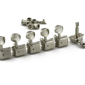 Kluson Traditional 6 In Line, Oval Button Nickel SD9105MN DR