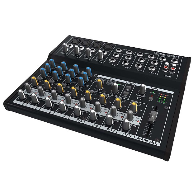mackie mix12fx 12 channel compact mixer w fx reverb. Black Bedroom Furniture Sets. Home Design Ideas