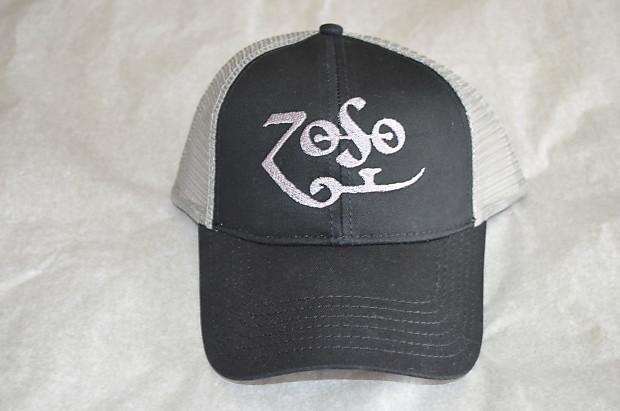 Led Zeppelin ZOSO Jimmy Page Hat Black   Silver  f488939b895