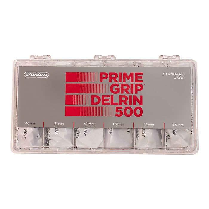 JIM DUNLOP- PRIME GRIP Delrin 500 Pick Gauged Box set 324x
