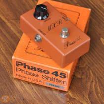 MXR Phase 45 Script Logo 1970s Orange image