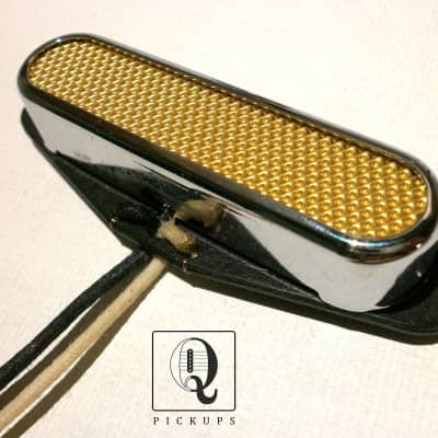 Stratocaster FOIL Pickup 1pc Gold Hand Wound Strat Custom by Q pickups for sale