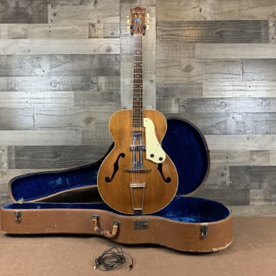 Sherwood H48 2420 Archtop Guitar w/Period Correct Silvertone Pick-up (1950's) w/Original Lifton Case for sale