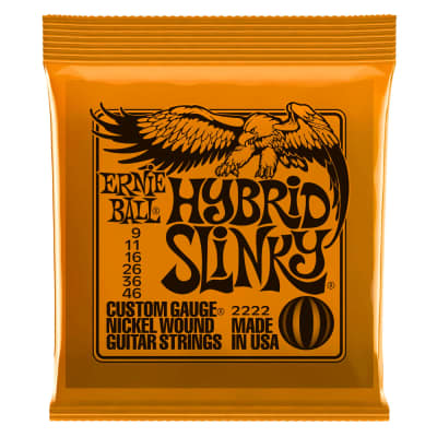 Ernie Ball 2222 Hybrid Slinky Electric String Set, 9-46