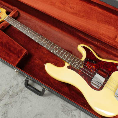 Stunning 1966 Fender Precision Bass  Olympic White + HSC