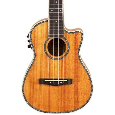 Mitchell MU100CE Acoustic-Electric Concert Ukulele Regular Natural Koa for sale