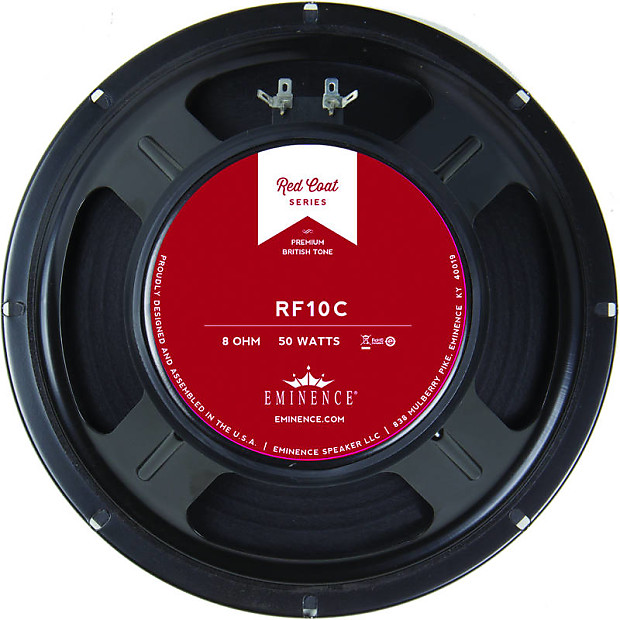 Eminence Rf10c 8 Ohm Guitar Speaker Q Components
