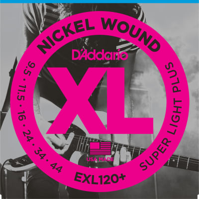 D'Addario EXL120+-3D Nickel Wound Electric Guitar Strings, Super Light Plus Gauge 3-pack