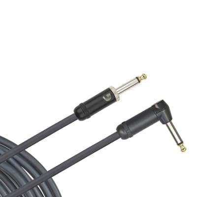 D'Addario American Stage Instrument Cable, Right Angle, 20 feet