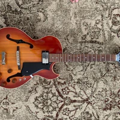 Heritage David Becker Custom Carved  Hollow Body Electric Guitar 2016 Almond Sunburst