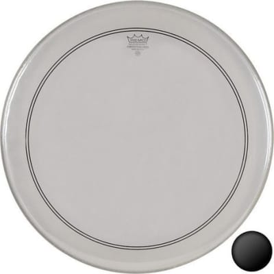 Remo Clear Powerstroke 3 Bass Drumhead w/ 2-1/2'' Impact Patch 24 in