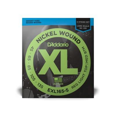D'Addario EXL220-5 5-String Nickel Wound Super Light Bass Guitar Strings