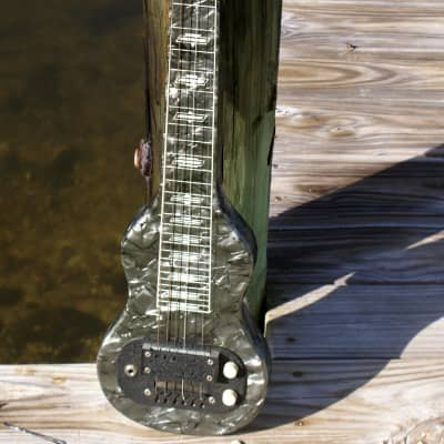 SUPRO Lap Steel Guitar in Black MOTS-  Circa 1960 for sale
