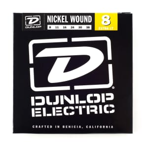 Dunlop DEN0838 Nickel-Plated Steel Electric Guitar Strings - Extra Light (8-38)