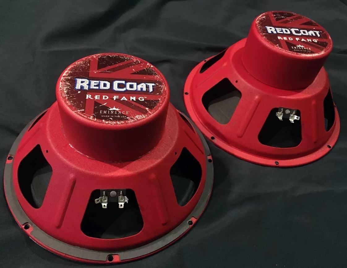 pair of eminence red coat red fang 12 speakers reverb. Black Bedroom Furniture Sets. Home Design Ideas