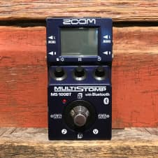 Zoom MS-100BT MultiStomp w/Bluetooth Multi-Effects Pedal