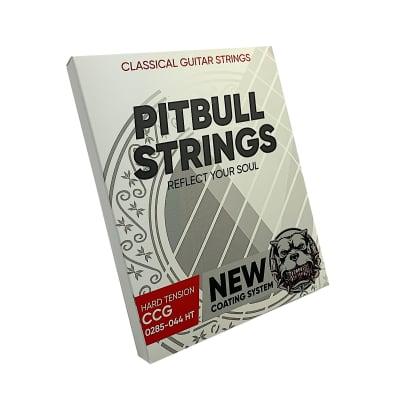 Premium Classical Guitar Strings 0285-044 - Pitbull Strings Coated Series - Hard Tension - CCG-HT