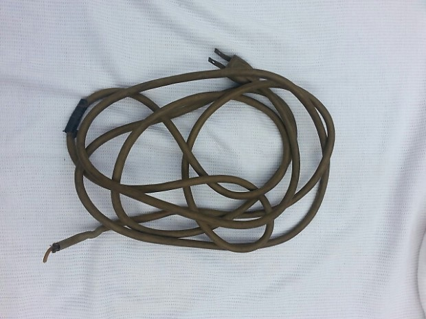 2 prong cord 50s fender tweed amp original 2 prong power cord weekend reverb