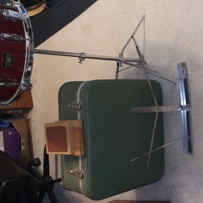 Majestic De Luxe Vintage 1960s Snare With Case, Stand, Practice Pad