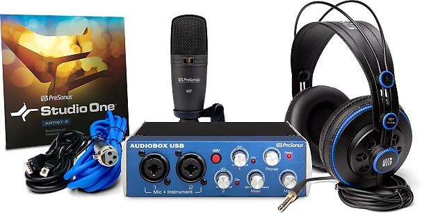 presonus audiobox studio usb interface pro microphone reverb. Black Bedroom Furniture Sets. Home Design Ideas