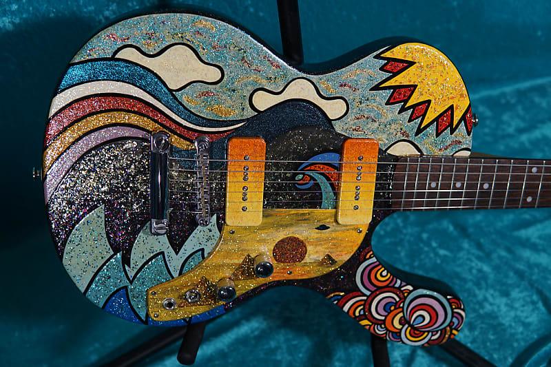 Super Wild Musicvox Spaceranger electric guitar 2002 Hand Painted