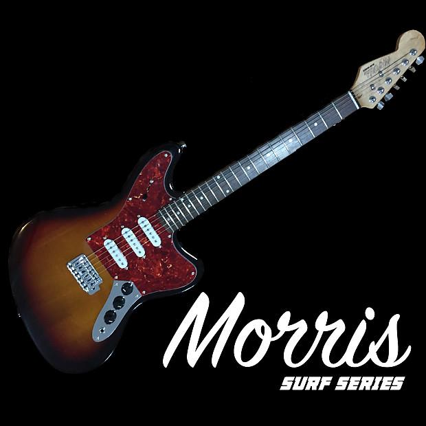 Morris Guitar Works Surf Series Jazzmaster style Reverse Headstock 2016 2  Color Sunburst