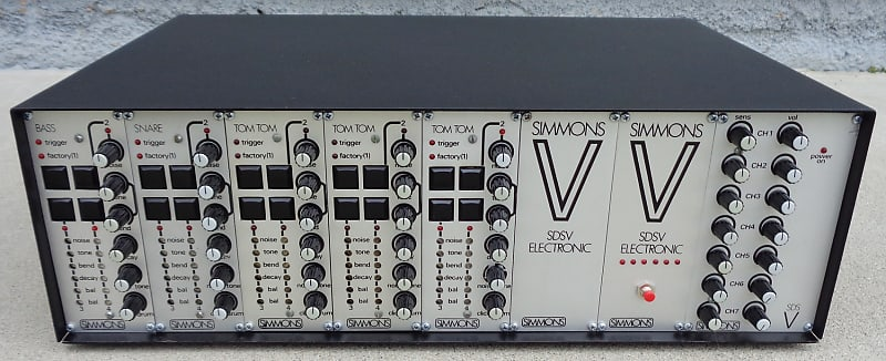 Simmons SDSV with Elby MIDI Analog Drum Synthesizer