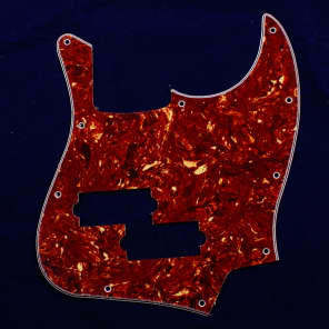 Replacment Pickguard For JB Black Top with PB Pickup hole ,4ply Red Tortoise