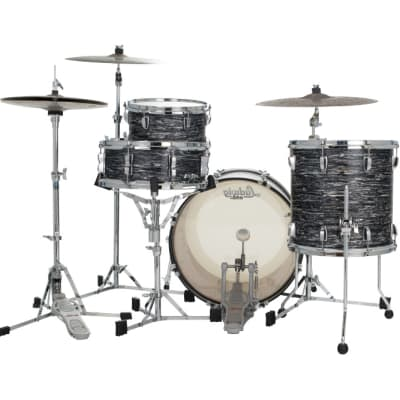 Ludwig Classic Oak 3pc Pro Beat Drum Set Vintage Black Oyster