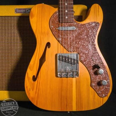 Fender 2004 Masterbuilt John English Telecaster Thinline Guitar- Pine/Leather