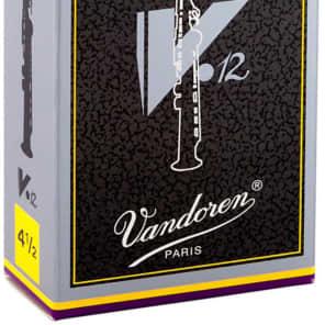 Vandoren SR6045 V12 Series Soprano Saxophone Reeds - Strength 4.5 (Box of 10)