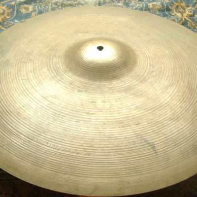 """SOUNDFILE! LIGHT COMPLEX SEMI-DRY Vintage 1960s ZILDJIAN 22"""" Ride! EXCD 2709 Gs!"""
