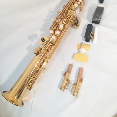 Hunter Straight Soprano Sax with Two Necks Lacquer 2020 Lacquer