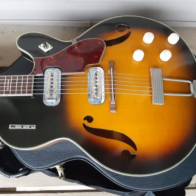 Vintage 1962 Harmony Meteor Electric Guitar w/ Gibson Hardshell Case! Clean, Mailbox Letters! for sale