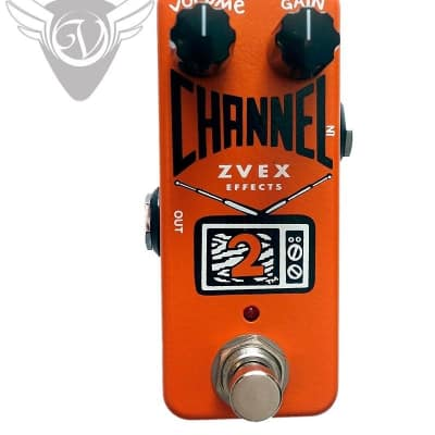ZVEX Channel 2 Compact Boost/Distortion Pedal Small Footprint