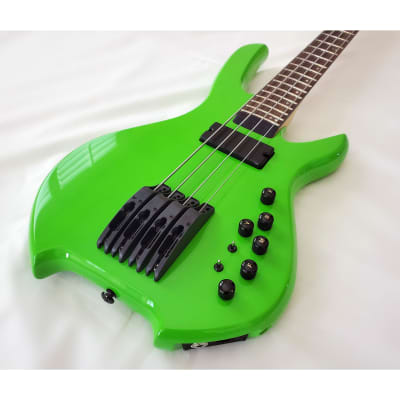 Willcox Guitars Powered by Lightwave Systems Saber Hybrid Bass w/ HexFX 4-String Lime Green MIDI! for sale