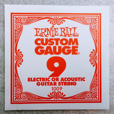 Ernie Ball Plain String Nickel for Acoustic/Electric .009