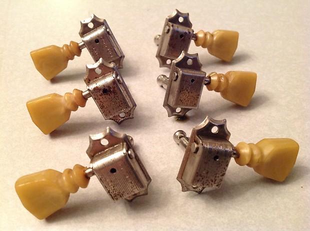 Vintage Kluson Tulip Double Ring Tuning Keys, Early/Mid | Reverb