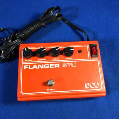 DOD Electronics Flanger 670 1979 Orange for sale