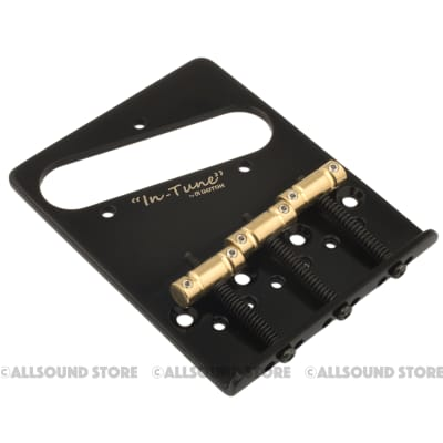 Gotoh BS-TC2 Brass In-Tune Saddle Dual Load Bridge for Fender Telecaster Tele - BLACK for sale