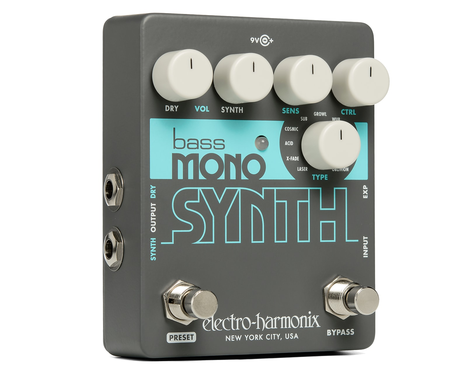 Electro-Harmonix EHX Bass Mono Synth Bass Synthesizer Effects Pedal